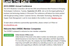 """March newsletter with """"Save the Date"""" lead story"""