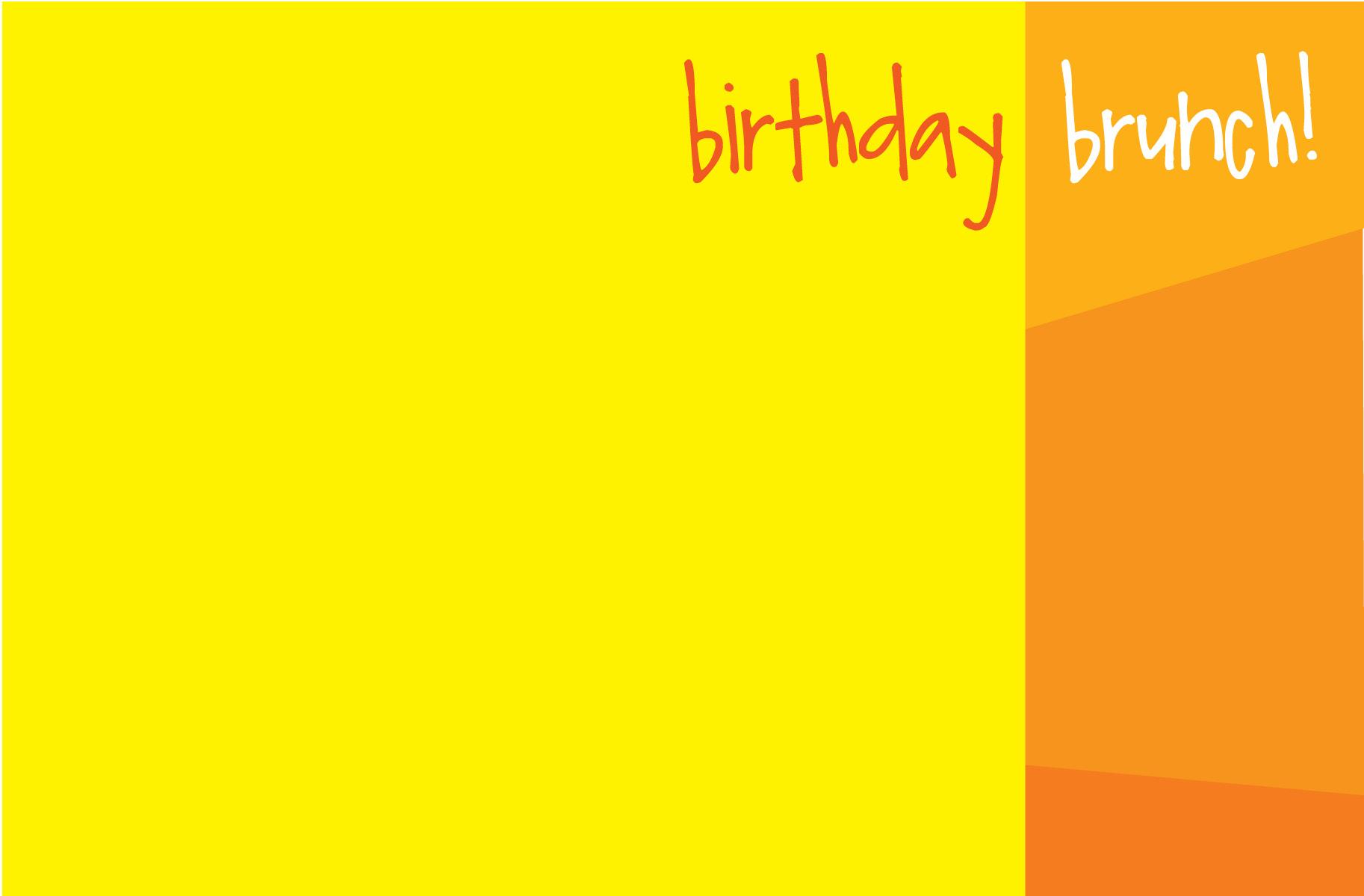 Birthday Brunch Invitations gangcraft